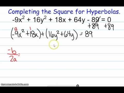 Completing the Square for Hyperbolas