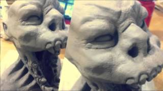 Monster - Mutant Vampire Clay sculpture (Created with @Magisto)