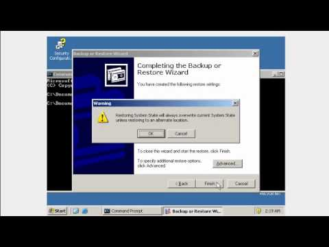 Windows Server 2003 Backup de Active Directory