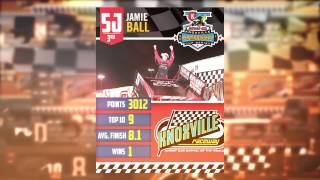Knoxville Raceway 360 3rd place points finisher Jamie Ball