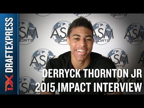 Derryck Thornton Jr. 2015 Impact Basketball Interview - DraftExpress