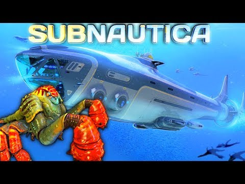 Subnautica LIVESTREAM - SLAVE TO THE SEA EMPEROR! BASE WORK, CRAFTING THE SEAMOTH  PT2 Gameplay (видео)