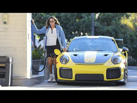 Caitlyn Jenner Shows Off Her Legs While Fueling Her Speedy Porsche 911