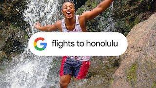 Google Search: Flight Info (Honolulu)