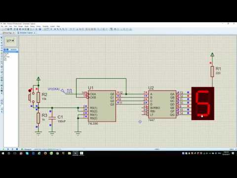 7490 Counter and 7447 BCD to LED 7 segment decoder