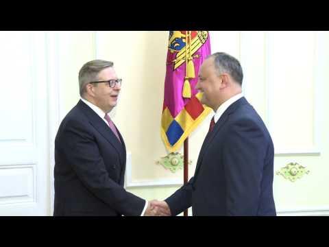 Igor Dodon, Președintele Republicii Moldova a avut o întrevedere cu Pirkka Tapiola, șeful Misiunii UE la Chișinău