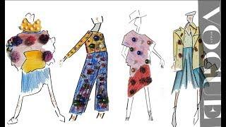 يوم داخل ورش تصميم ازياء#kiranoviski - اعمال طلاب A fashion day in our work space