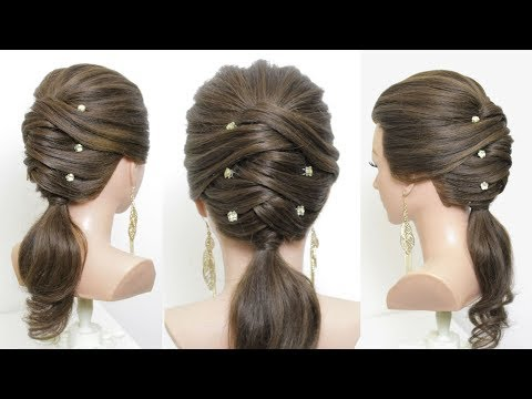 New Hairstyle For Girls. Latest Party Ponytail Tutorial