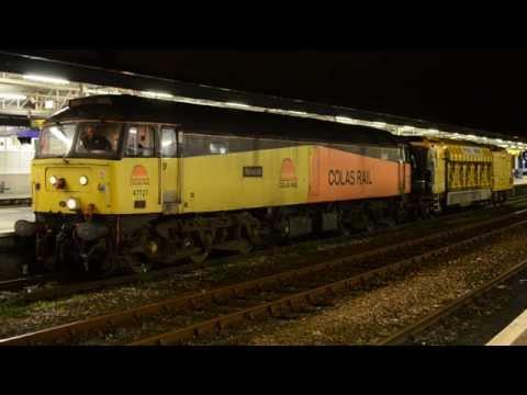 Colas Rail 47727 'Rebecca' at Plymouth Station with a Rai...