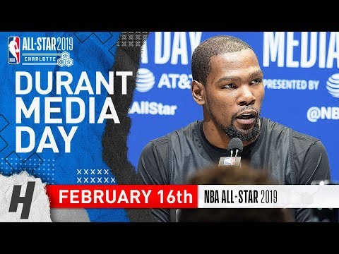 Kevin Durant Full Interview | February 16, 2019 NBA All Star Media Day