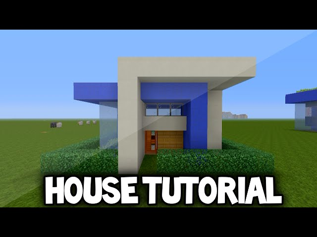 Simple Modern House Minecraft modern house tutorial minecraft xbox 360