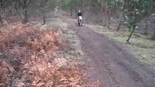 4. Husqvarna 2007 TE510 hillclimb