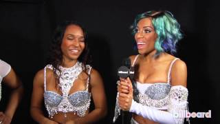 TLC & Lil' Mama backstage Q&A at the 2013 AMAs - YouTube