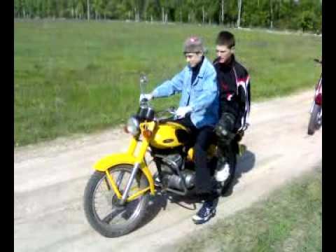 Первый раз на мотоцикле минск