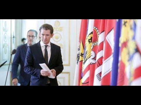 BUNDESKANZLERAMT IN WIEN: Kurz, Strache und Kickl  ...