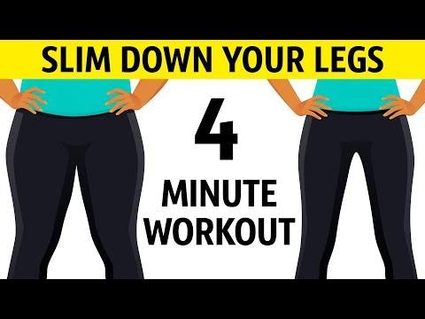 아침 기상후 다리를 슬림하게 만드는 4분 운동