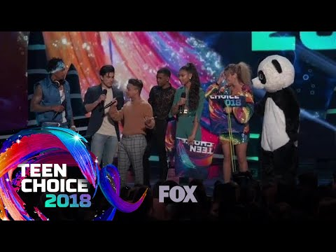 The Panda Ambushes The Cast Of On My Block | TEEN CHOICE