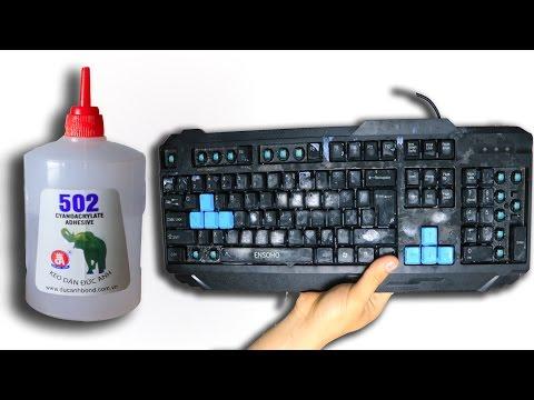 NTN - Trò Đùa Phá Bàn Phím Bằng Keo 502 ( Prank Glue Keyboard ) (видео)