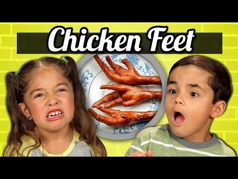 Kids React to Tasting Chicken Feet for the First
