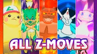 POKEMON SUN & MOON ALL Z-MOVES!! by King Nappy