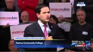 Marco Rubio Short-Circuits Again, Inexplicably Repeats Scripted Line Word for Word
