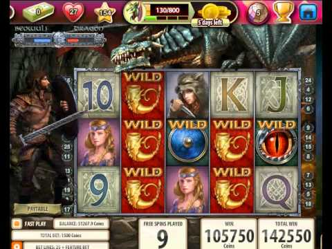 156,250 Big Win - Beowulf Slot Game