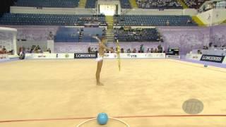 soldatova aleksandra rus  2014 rhythmic worlds izmir tur  qualifications hoop