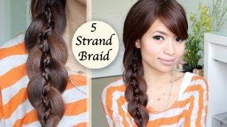 Unique 5 Strand Braid (Braid in Braid) Hairstyle Hair Tutorial