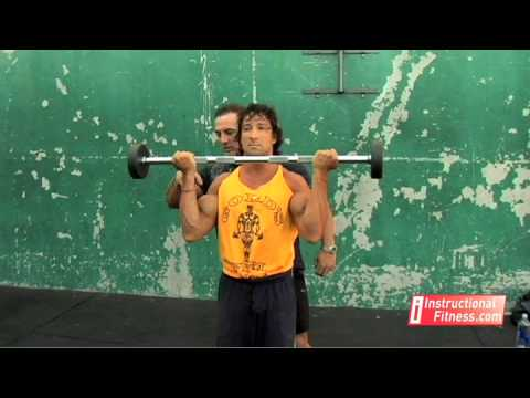 barbell - http://www.instructionalfitness.com Personal fitness trainer Joe Tong teaches the proper way to do barbell curls. Exercises: the biceps. If you have any fitn...