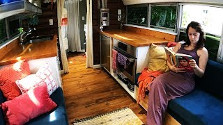 Video Tiny House School Bus Conversion - New Tour! MP3, 3GP, MP4, WEBM, AVI, FLV Juni 2019