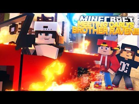 Minecraft Adventure - MEETING LITTLE CARLYS BROTHER RAVEN!! (видео)