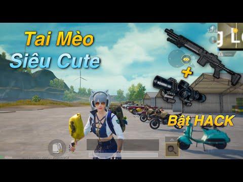 PUBG Mobile   Phụ Kiện HeadPhone Tai Mèo Cực Dễ Thương    Cách Lấy Top1 Bo Siêu Khó vs MK14 8X √ - Thời lượng: 19 phút.