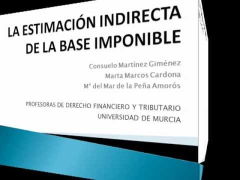 La estimación indirecta de la base imponible
