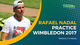 Rafa Nadal hitting at practice courts - The Championships 2017. SUBSCRIBE to Tennis Fitness YouTube Channel: https://www.youtube.com/user/energise61?feature=...