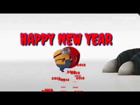 minions happy new year status happy newyear 2018 status video funny minion newyear whatsapp status