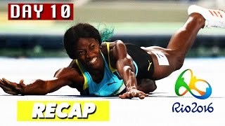 Rio Olympics 2016 highlights, results, best moments & the Shaunae Miller dive! Day 10 of the Rio Olympics 2016 has finished, so I am again simplifying the hours upon hours of sports shown on TV today to a short video featuring the highlights, gold medal winners, and world records broken, if any.This is a video for the Rio Olympics on August 15, 2016, and I'll be doing a new compilation video every day until the Olympics are over on August 21st. Make sure to subscribe to Culture Vulture for more videos:https://www.youtube.com/c/culturevultureHighlights:Elia Viviani crashes during the cycling race and managed to get back up and win a gold medalThe Shaunae Miller dive past the finish line to just barely defeat Allyson Fenix, which was actually legalPole vaulting in general, but especially Thiago Braz de Silva setting an Olympic record and winning goldGold medal winners:Eleftherios Petrounias of Greece wins gold in men's ringsRi Se Gwang of North Korea wins gold in men's vaultSanne Wevers of Netherlands wins gold in women's balance beamAnita Wlodarczyk of Poland wins gold in women's hammer throwRuth Jebet of Bahrain wins gold in women's 3000m steeplechaseElia Viviani of Italy wins gold in men's omnium points raceCharlotte Dujardin of Great Britain wins gold in women's individual dressageSharon van Rouwendaal of Netherlands wins gold in women's 10km swimmingEvgeny Tishchenko of Russia wins gold in men's 91kg boxingRuslan Nurudinov of Uzbekistan wins gold in men's 105kg weightliftingDavit Chakvetadze of Russia wins gold in men's 85kg Greco-Roman wrestlingMijain Lopez Nunez of Cuba wins gold in men's 130kg Greco-Roman wrestlingDavid Lekuda Radisha of Kenya wins gold in men's 800m runningShaunae Miller of Bahamas wins gold in women's 400m runningThiago Braz de Silva of Brazil wins gold in men's pole vaultOlympic records / world records broken:Anita Wlodarczyk set a world record in women's hammer throw with a distance of 82.29 metersRuslan Nurudinov set an Olympic record in 