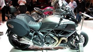 8. 2014 Ducati Diavel Strada Walkaround - 2013 EICMA Milan Motorcycle Exhibition