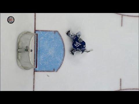 Video: Canucks' Boeser rings both posts in overtime