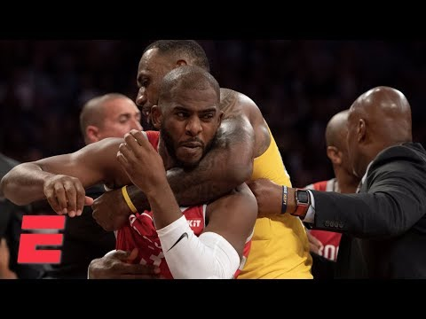 Chris Paul, Rajon Rondo And Brandon Ingram Ejected After Rockets And Lakers Fight  | NBA Highlights