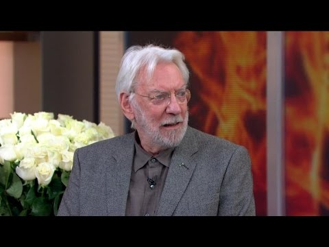 sutherland - The actor reprises his role as evil dictator, President Snow, in the third 'Hunger Games' movie.