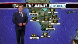 Univision News - A Cat Interrupts Univision's Weather Report