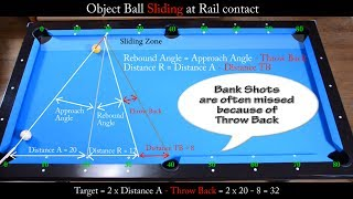 Bank Shots In Sliding Zone Drill - Aiming With Diamond System - PoolBilliard Training Lesson