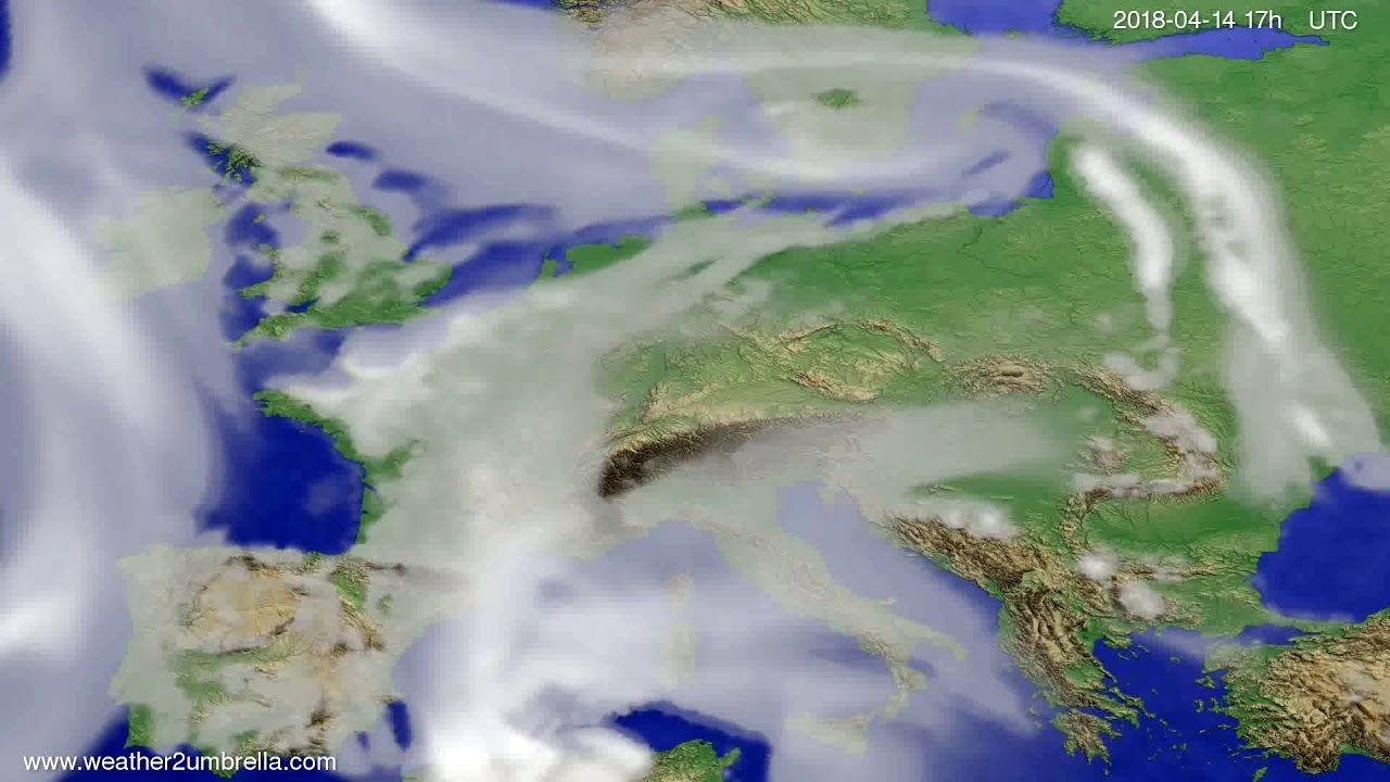 Cloud forecast Europe 2018-04-12