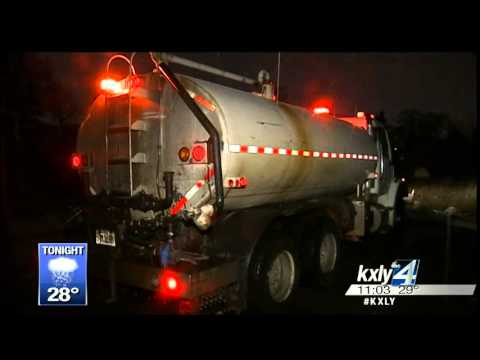 Freezing rain creates treacherous road conditions