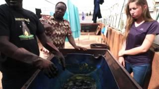 Présentation de Zem Batik à Ouagadougou par Maeva pour l'association APA ;