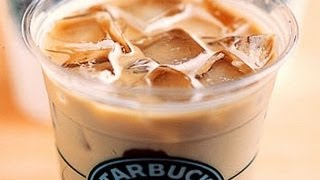 How To Make A Starbucks Iced Vanilla Latte - YouTube