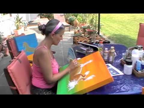 Einhorn-Bilder Malen im Garten Sonja Ariel von Staden