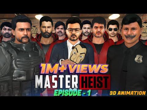 Master | Money heist Episode-1 kollywood heroes | Animation | Thalapathy | Thala | Surya | Show Hall