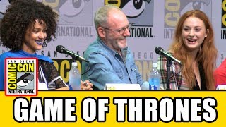 Game of Thrones Comic Con 2017 panel Season 7 news & highlights with Sophie Turner, Isaac Hempstead Wright, Alfie Allen, Jacob Anderson, John Bradley, ...