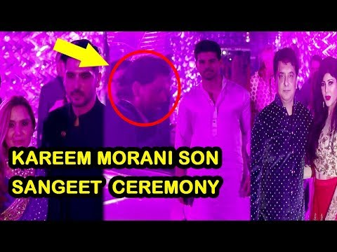 Shah Rukh Khan , Sooraj Pancholi, Bobby Deol & Others Attend Karim Morani's Son Sangeet Ceremony
